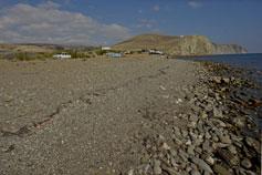Пляж в окрестностях Судака