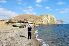 Рыбаки в окрестностях Судака