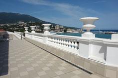 Ялта. Фото террасы гостиницы Марино или Вальтер