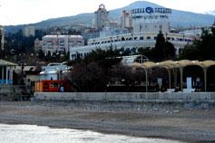 Ялта. Фото отеля Ореанда с моря