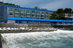 Ялта - гостиница Красотель-Левант, пляж